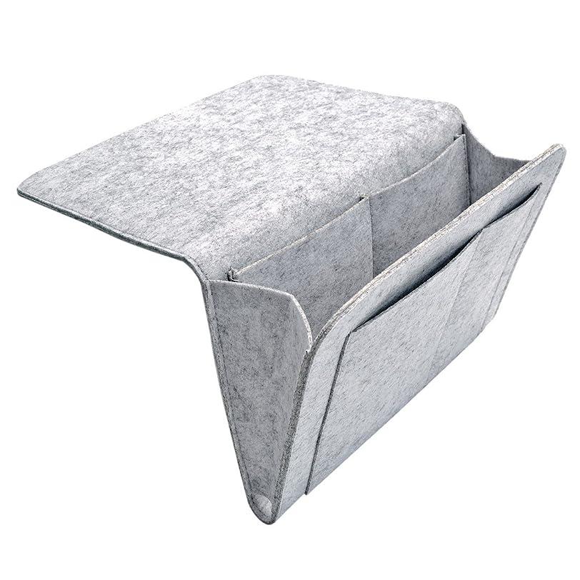 Yuena Care ベッドサイド 収納 収納ケース ラック ベッド サイド ポケット ベッドサイドケース テーブル掛け袋 ベッド脇吊り下げ 小物入れ 便利 寮 二段ベッド