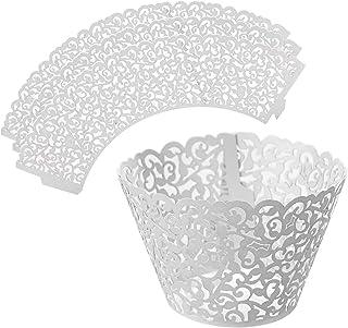 LEADSTAR Caissette Cupcake 50 Pièces Cupcake Wrappers en Papier pour Muffins Gâteau Décoration DIY Fête Mariage Partie