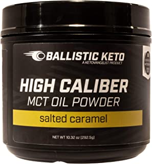 BALLISTIC KETO MCT Oil Powder: Salted Caramel - Medium Chain Triglycerides - C8 & C10 - Perfect Brain Fuel