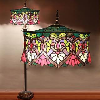 16-Inch Tiffany Rose européenne Retro Salon Chambre Villa Bar étude classique de la personnalité de verre coloré décoratif...