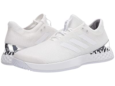 adidas Adizero Ubersonic 3 (Footwear White/Footwear White/Silver Metallic) Men