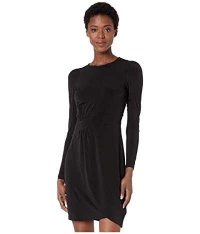 MICHAEL Michael Kors Puff Sleeve Wrap Skirt Dress (Black) Women