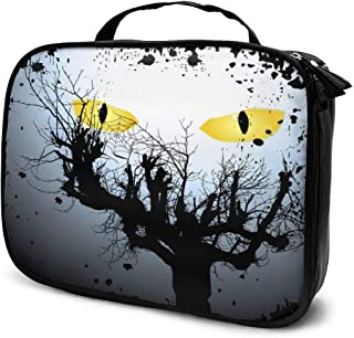 Cosmetic Bag Halloween Scary Eyes Makeup Bag Lightweight Portable Cosmetic Case Water Resisted Cosmetic Makeup Bag Durable Organizer Makeup Boxes With Insulated Pockets For Travel