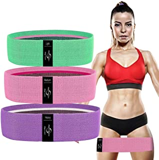 RIOTECH Resistance Bands for Legs and Butt, Workout Exercise Hip Bands, Fitness Booty Loop Non-Slip Bands for Squats, Dead...