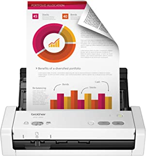 Brother Easy-to-Use Compact Desktop Scanner, ADS-1200, Fast Scan Speeds, Ideal for Home, Home Office or On-The-Go Professionals (ADS1200) (Renewed)
