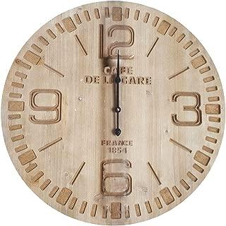 Rétro Cafe de la Gare Vintage Clock 60 cm