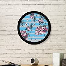 DIYthinker Rhododendron Drawing Art Plant Art Painting Picture Photo Wooden Round Frame Home Wall Decor Gift Medium Black