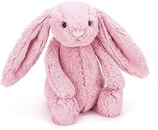 Jellycat Bashful Pink Tulip Bunny Stuffed Animal, Medium, 12 inches