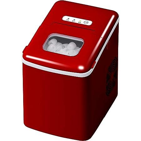 製氷機 家庭用 小型 高速 卓上 スコップ付き 簡単操作 (レッド)