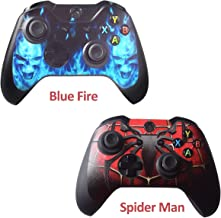 2pcs Skins Stickers for Xbox One Games Controller - Custom Xbox 1 Remote Controller Wired Wireless Protective Vinyl Decals Cover - Leather Texture Protector Accessories - Spider Man&Blue Daemon