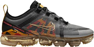 Women's Air Vapormax 2019 Black/Pale Vanilla/BRT Crimson Mesh Running Shoes 8 M US