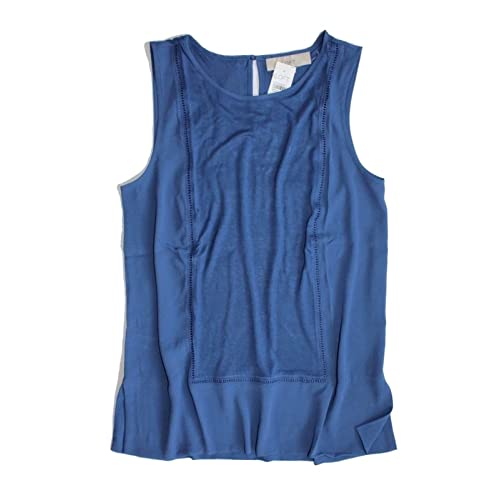 acb44a60 Ann Taylor LOFT - Women's - Solid Colors - Mixed Media Ladder Lace Shell  Tank Top