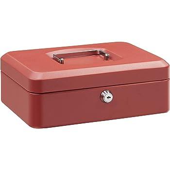 Arregui C9234 Caja de Caudales de Acero, 25 cm de ancho, con bandeja multifunción, roja, Rojo, 250 x 90 x 180 mm: Amazon.es: Bricolaje y herramientas