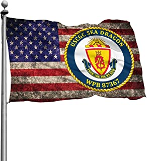 XIAOYANflag USCGC Sea Dragon WPB 87367 American Flag Banner Breeze Flag Home House Flags Garden Flag Outdoor Flag