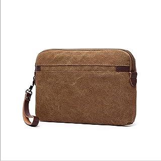 53ab07af Billetera Larga Multifuncional para Hombre de Europa y Estados Unidos,  marrón (Marrón) -