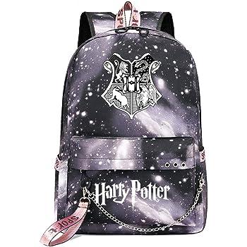 Sac /à Dos Magic College de Poudlard ,/Sac /à Dos Harry Moda ,Potter Voyage Loisirs Cartable avec Port USB et Prise Casque Noir Le style-23