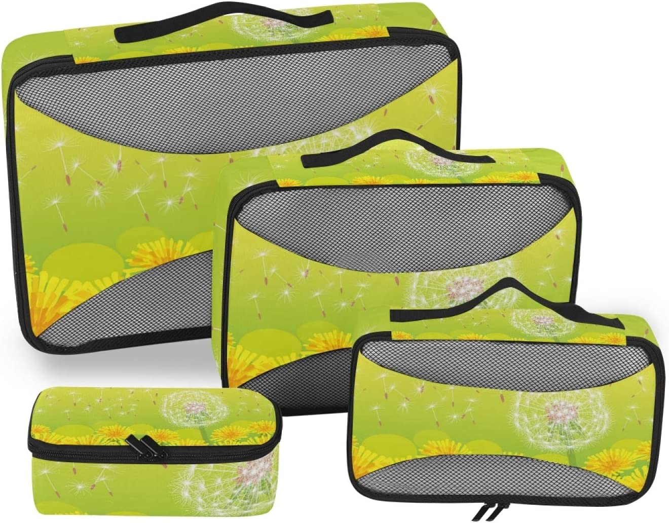 Spring New product type Yellow Dandelions Packing Cubes Organizer Ac Travel 4-Pcs Ranking TOP11