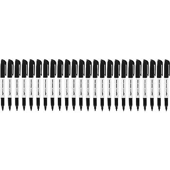 AmazonBasics Fine Point Tip Permanent Markers, Black, 24-Pack