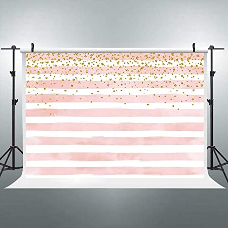 Digital Printed Backdrop Booth Happy Birthday Golden Dot Watercolor Floral Diagonal Stripes Unicorn Photography Curtain Booth Purple Animal Portable Decoration Props Modern Picture Background