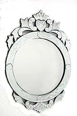 QUALITY MIRRORS Wall Mirror Size 30 x 20 Inches Silver Colour