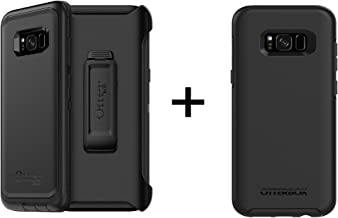 OtterBox Defender Series SCREENLESS Edition Case + OtterBox Symmetry Series Case for Samsung Galaxy S8+ - Work/Weekend Bundle - Black