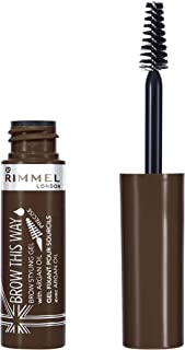 Rimmel London, Brow This Way Eyebrow Gel with Argan Oil, Medium Brown