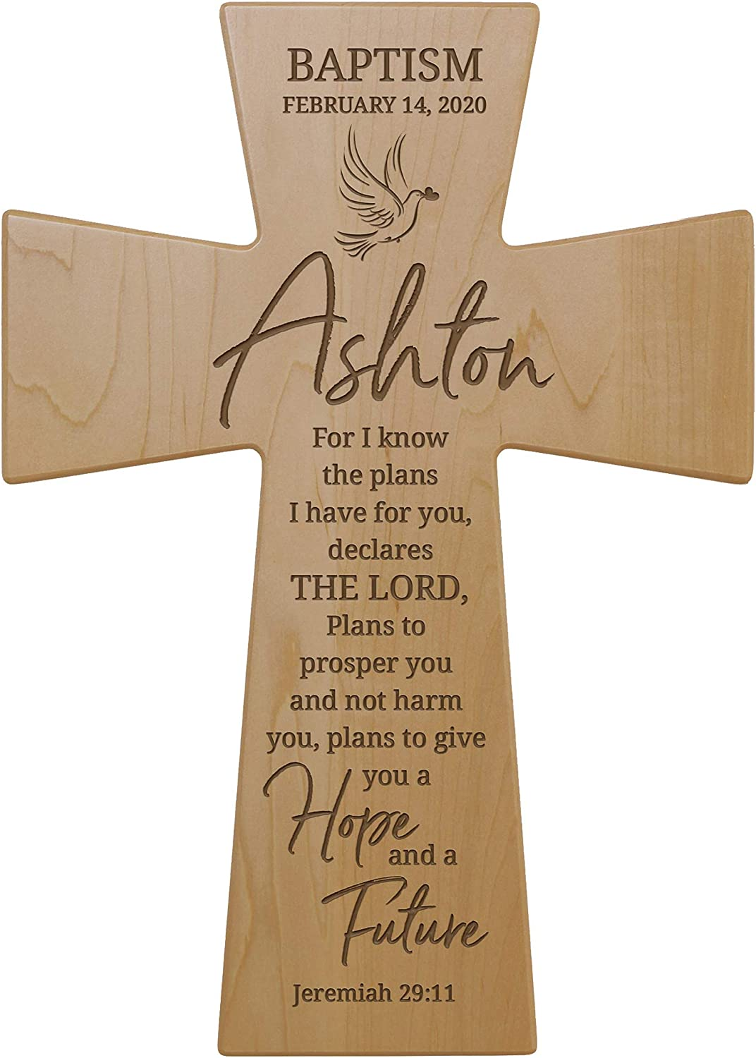 Beauty products LifeSong Milestones Personalized Baptism Gods Hanging Fees free Cross Wall
