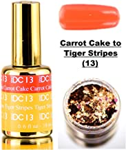 DND DC MOOD Gel Polish, Premium Temperature-Activated Nail Polish, HOT or COLD, Daisy Nails Heat Change Color (with bonus side Glitter) Made in USA (Carrot Cake to Tiger Stripes (13))