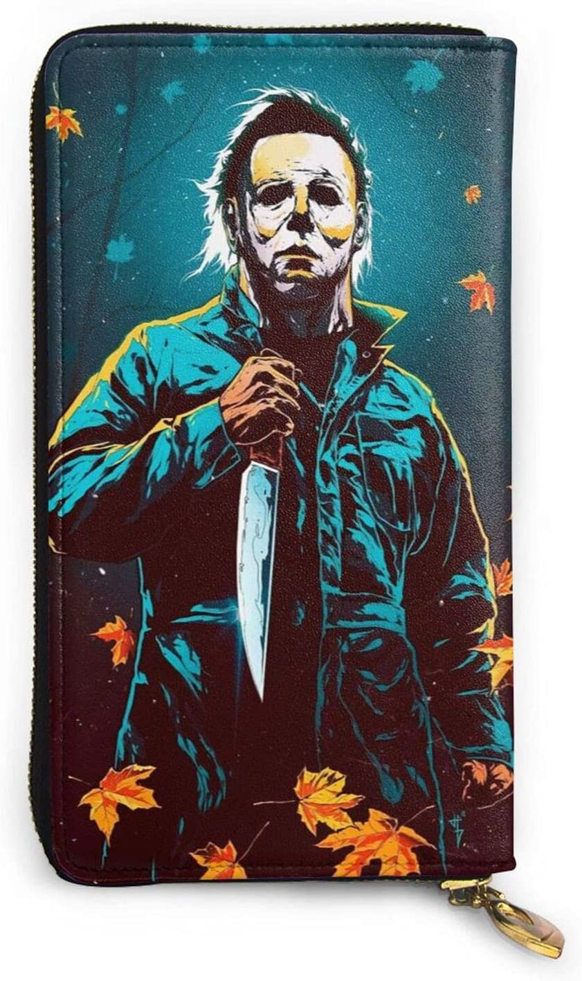Michael Myers Wallet Mens Womens Leather Larg High quality new Special price for a limited time Zipper Slim