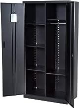 """HOMCOM 71"""" Cold Rolled Steel Lockable Garage Storage Cabinet with Shelves - Black"""