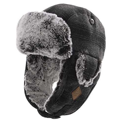 4b5f4ae1fe1 Unisex Trooper Trapper Hat Warm Thick Faux Fur Mens Winter Hats for Womens  Earflaps Hunting Hat