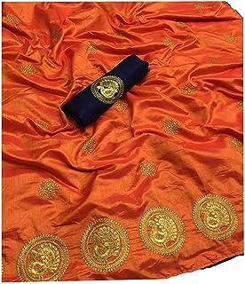 Women's Chanderi Cotton Saree With Blouse Piece