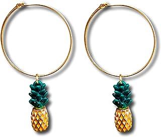 Libaraba Glaze Diamond Accent Flamingo Stud Earrings with Jewelry Box,Flamingo Earrings for Women Red