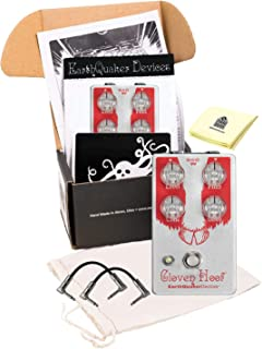 EarthQuaker Devices Cloven Hoof Silicon Fuzz Effects Pedal Guitar Effect Pedal Package included 2 Patch Cable and Zorro Sounds Guitar Polishing Cloth