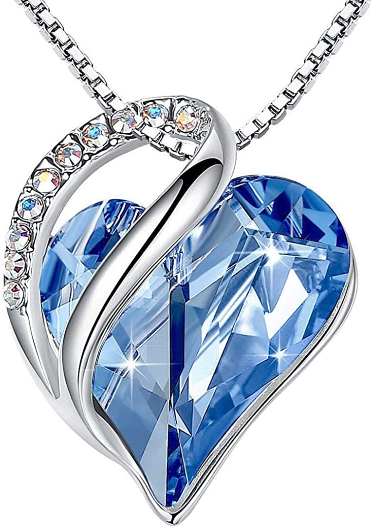 Ultra-Cheap Deals Leafael Infinity Love Heart Pendant Necklace Cry Max 63% OFF Birthstone with