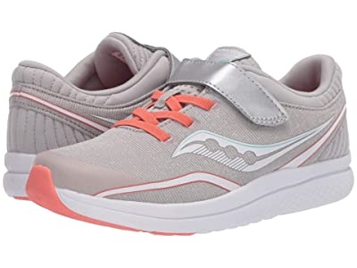 Saucony Kids S-Kinvara 11 A/C (Little Kid/Big Kid) (Silver/Coral Textile) Girls Shoes