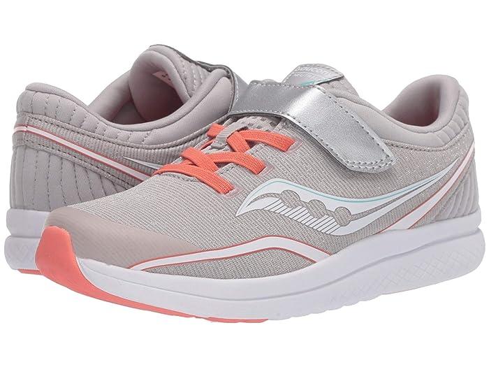Saucony Kids  S-Kinvara 11 A/C (Little Kid/Big Kid) (Silver/Coral Textile) Girls Shoes