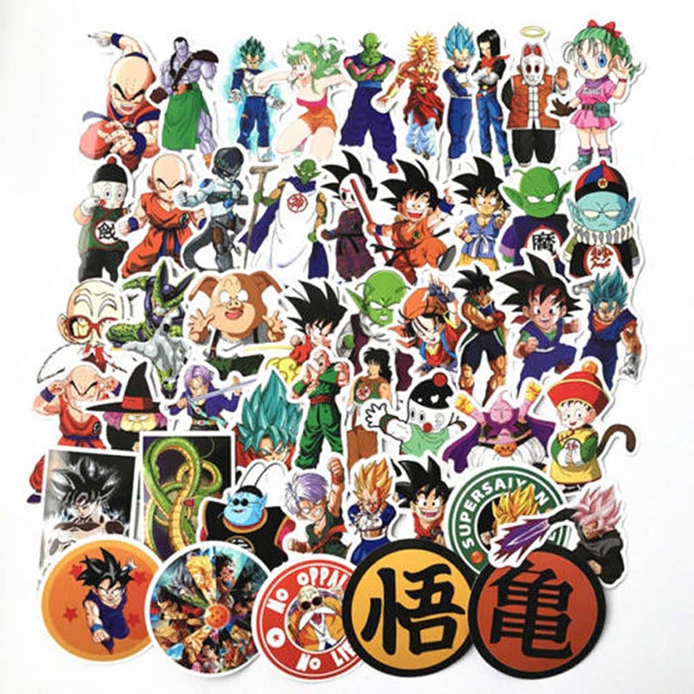 100 Pcs Anime Dragon Ball Super Saiyan Goku Stickers Waterproof Laptop Car Guitar Luggage Suitcase Skateboard Bike Stickers Decor