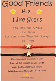 BOCHOI Star Wish String Bracelets/Anklets Jewelry for Women Girls Waterproof Handmade Adjustable Jewelry for Girlfriend Wife Best Friend Sister for 2 Gifts for Thanksgiving Christmas Halloween