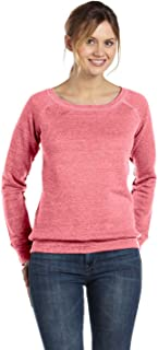 Bella Canvas Women's Sponge Fleece Wide Neck Sweatshirt