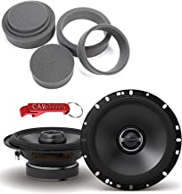 $119 » Alpine S-S65 S-Series 6.5-inch Coaxial 2-Way Car Speakers, 80 Watts RMS/240 Peak, Bundle with Fast Rings 3-Pc Audio Enhanc...