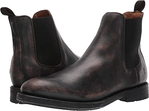 Black Stonewash Leather