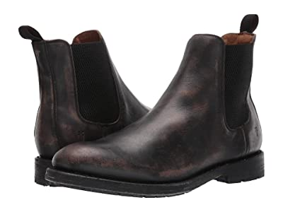Frye Bowery Chelsea (Black Stonewash Leather) Men
