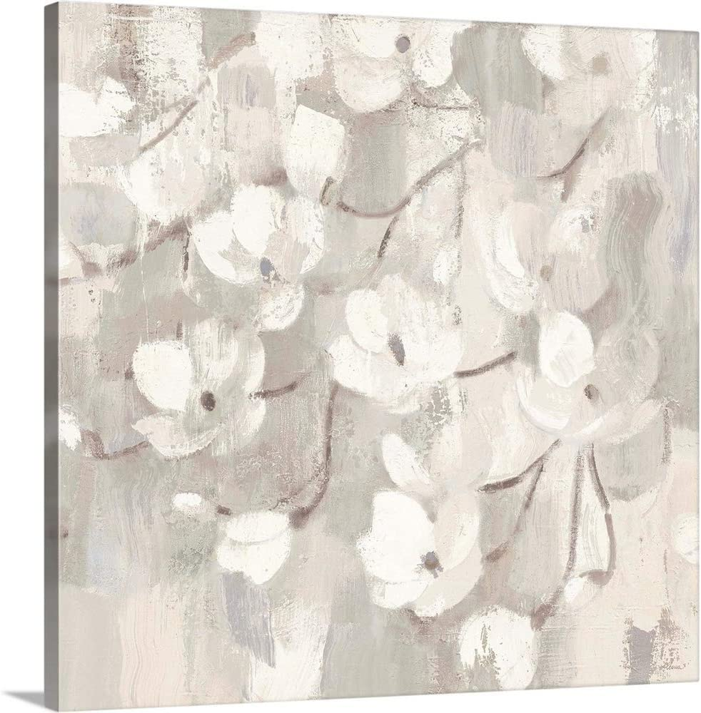 Magnolias in Spring I Animer and price revision Outlet sale feature Neutral Canvas Artw Wall Print Art Floral
