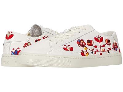 Soludos Artsy Floral Sneaker (White) Women