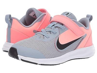 Nike Kids Downshifter 9 (Little Kid) (Obsidian Mist/Black/Lava Glow/White) Girls Shoes