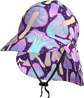Lsjuee - Cappello da sole per bambini, traspirante, con funghi