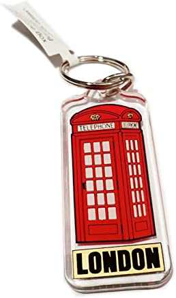 London Telephone Box Keychain - Red Phone Booth Key Chain Ring/British Keyring Souvenir from England UK