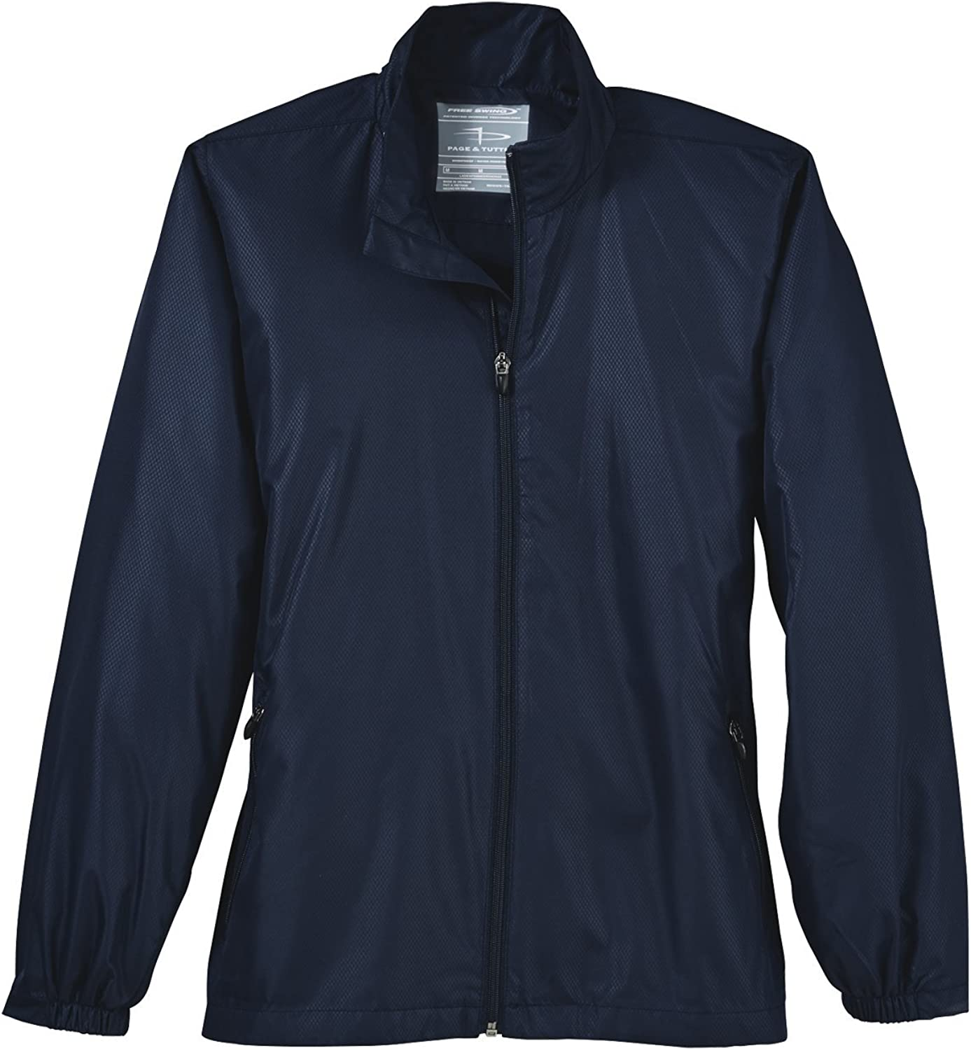 PAGE and TUTTLE Womens Embossed Windbreaker Coats Jackets Outerwear Casual Jacket - Blue