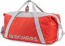 SKECHERS - Bolsa para Entrenamiento con Correa para Hombro, Bolsa de Lona para Gimnasio S919, Color Rojo Mandarina